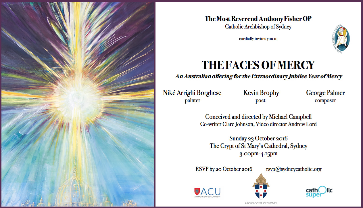 The Faces of Mercy invitation